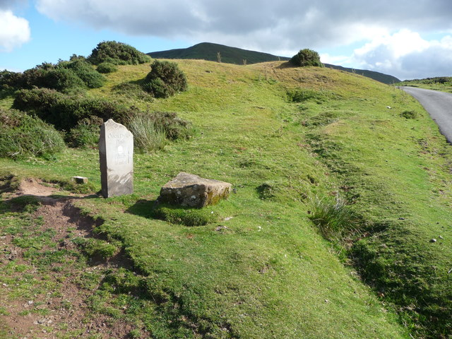 Offa's Dyke Path waymarker below Hay Bluff