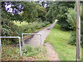 TM3876 : Footpath to Blyth Road & Blyth Road Industrial Estate by Adrian Cable