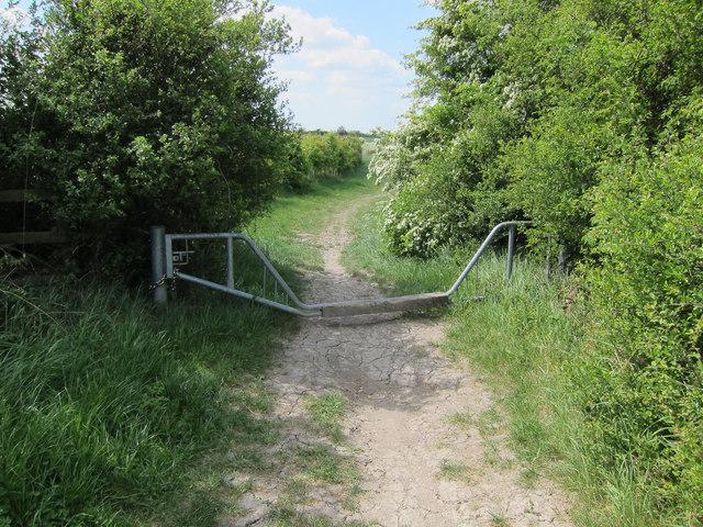 Vehicle restricting gate