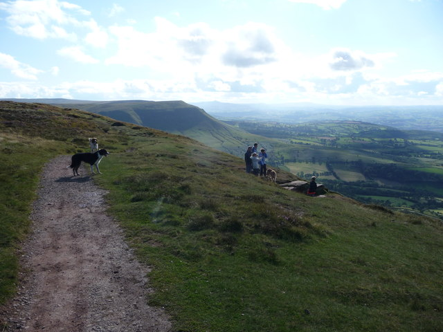 August Bank Holiday weekend on Hay Bluff