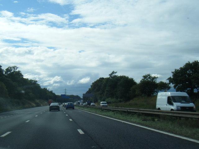 M56 westbound