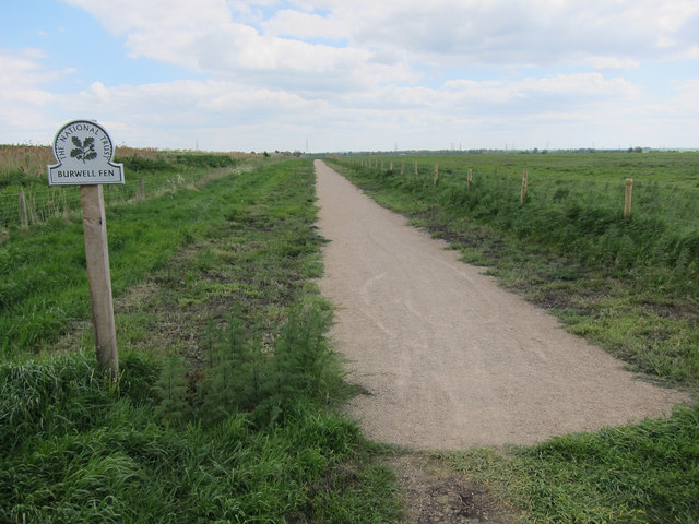 Burwell Fen new cyclepath