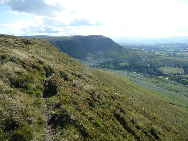 Path on the edge of Hay Bluff