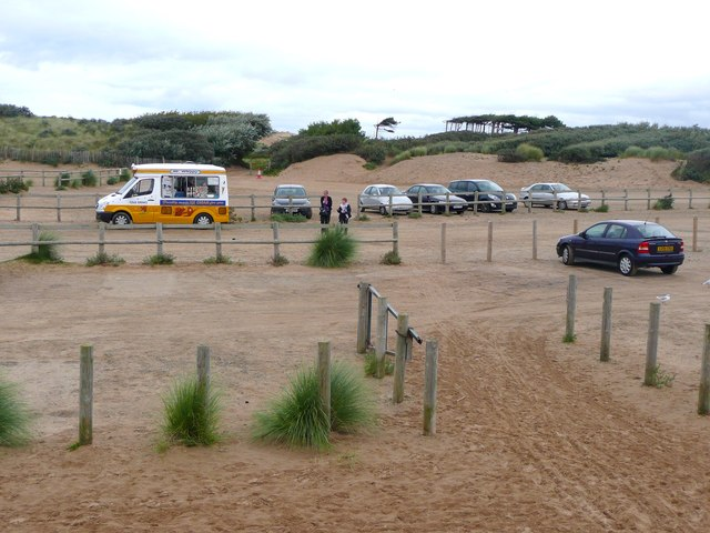 The Victoria Road National Trust car park, Formby