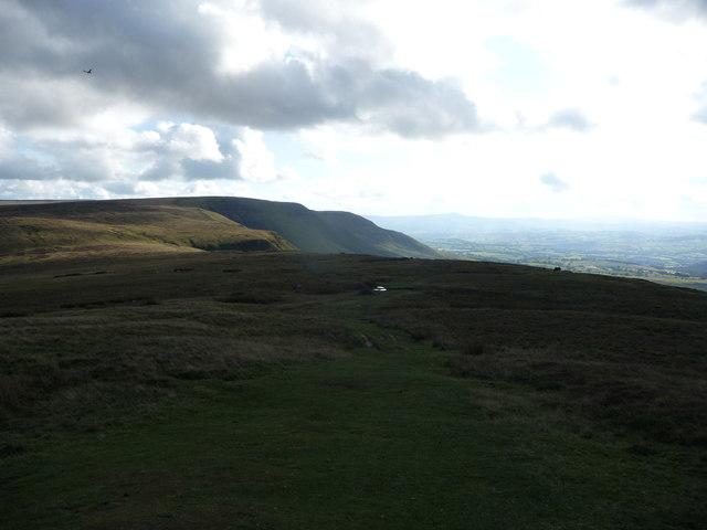 Upland scene below Twmpa's summit