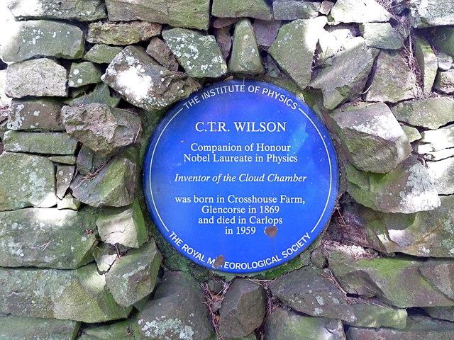 Memorial plaque to C.T.R.Wilson, physicist