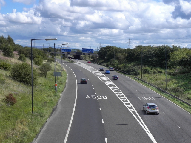 M61 at Junction 2