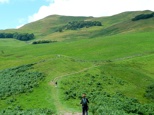 On the track to Turnhouse Hill, Pentlands
