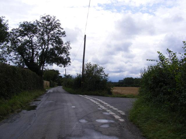 Road junction on Boulge Road