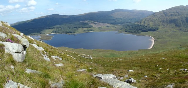 Loch Dee from the upper slopes of Craiglee