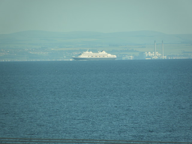 Cockenzie Power Station and Cruise Ship