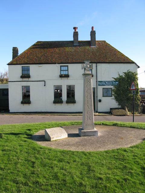 King Ethelbert Inn and Millennium cross