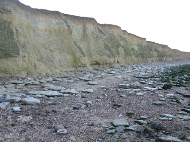 The shore and cliffs at Reculver