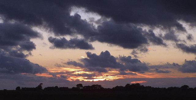 Evening falls over Sunderland