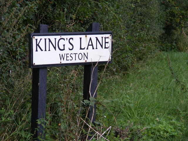 Kings Lane sign