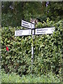 TM4186 : Roadsign on Kings Lane by Adrian Cable