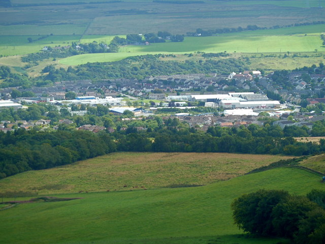 View over Penicuik from Turnhouse Hill, Pentlands