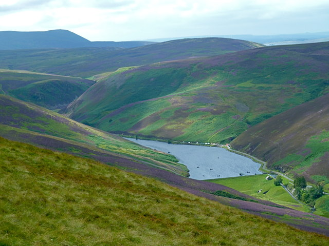 View of Loganlea Reservoir from Turnhouse Hill summit