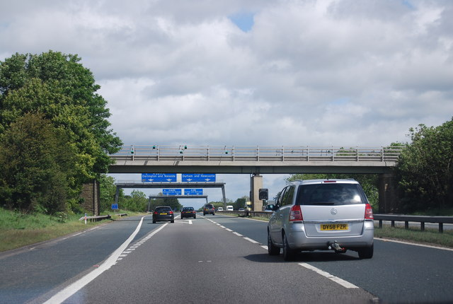 Approaching junction 57, A1(M)