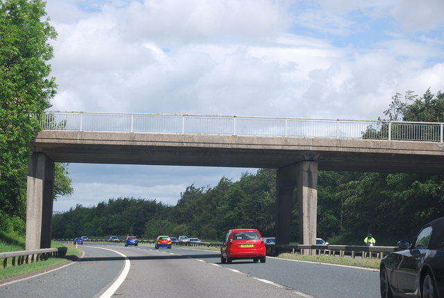 Bridge over the A1(M) near Cleasby