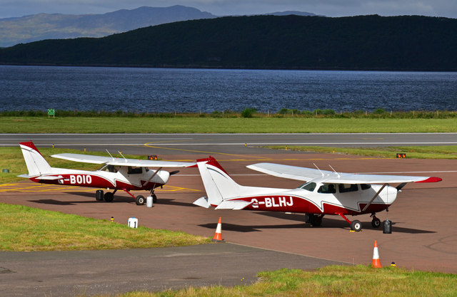 Two aircraft - Oban Airport