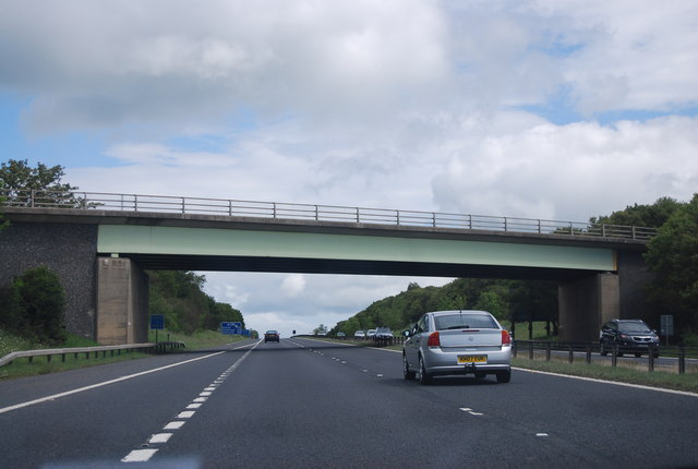 Lime Lane overbridge, A1(M)