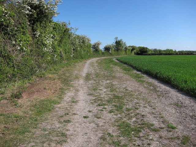 Restricted byway to Landwade Road