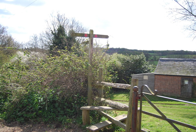 1066 Country Walk sign, Lower Snailham