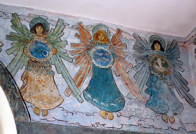 Angel Fresco in St Mary's Church