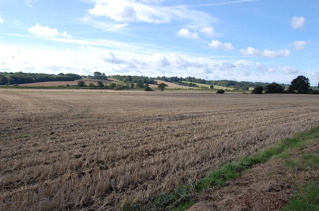 Stubble Field near Marsh Cottage