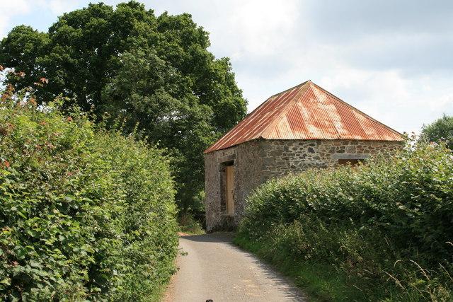 Barn above Larcombe Bridge