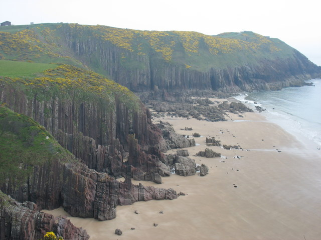 The beach at Presipe, Manorbier