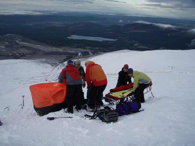 Mountain Rescue Training in the Cairngorms