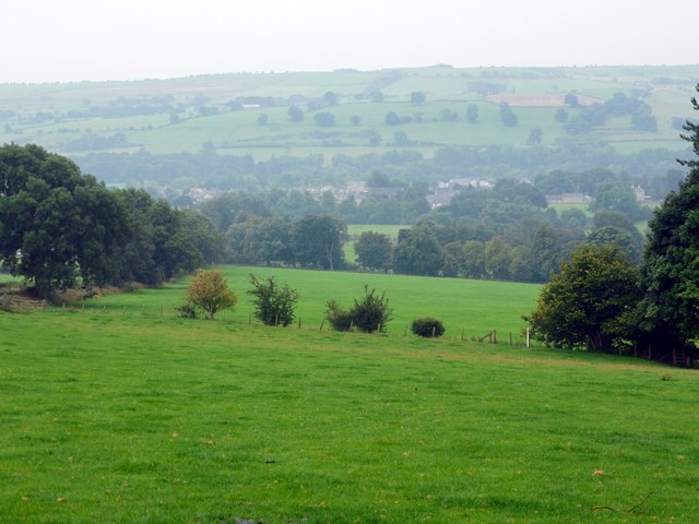 Wolsingham from fields below Baal Hill House