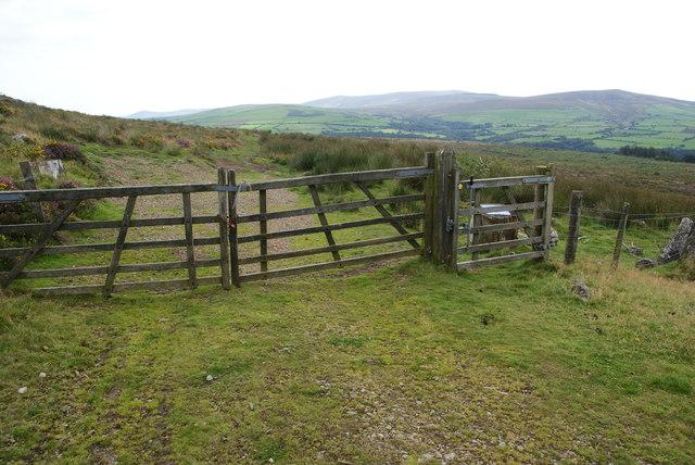 Gate below Mynydd Caregog