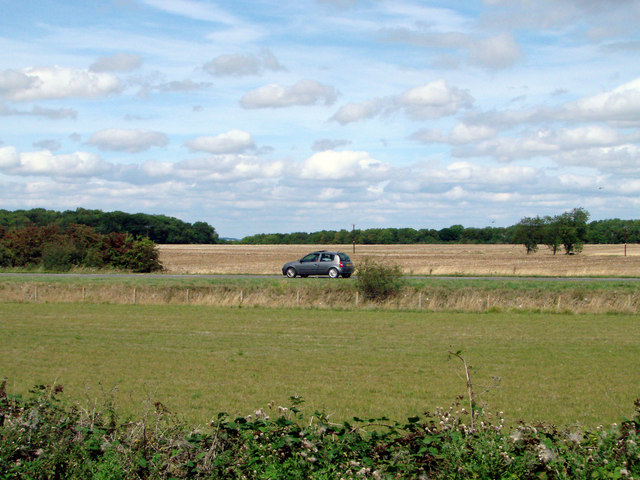 The A52 road near Threekingham