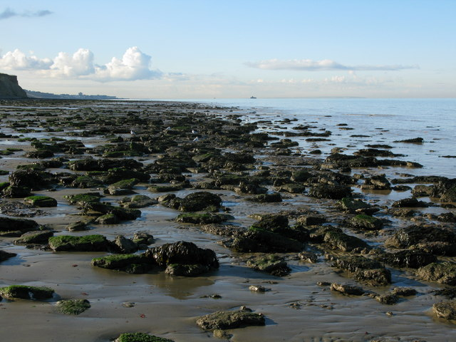 View along the coast towards Herne Bay
