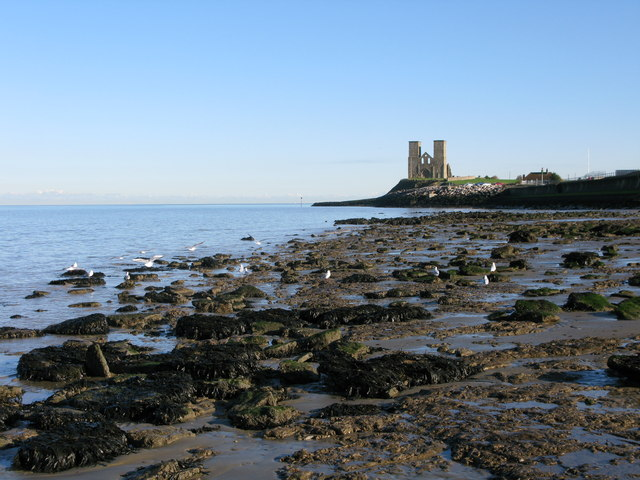 View along the coast towards St Mary's, Reculver