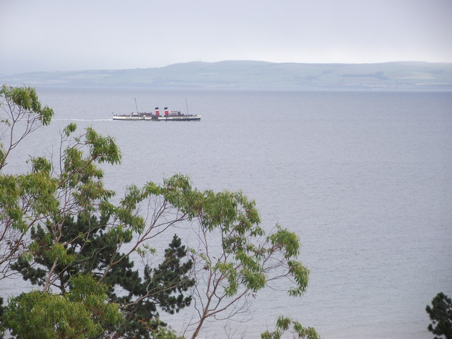 The Waverley from the Middle Road, Whiting Bay