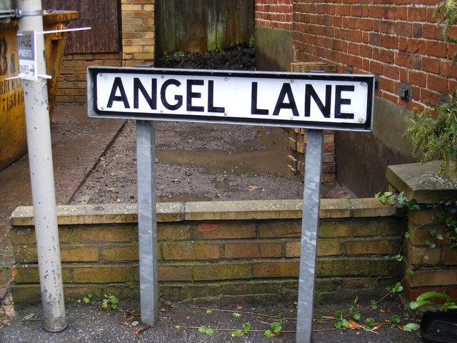 Angel Lane sign