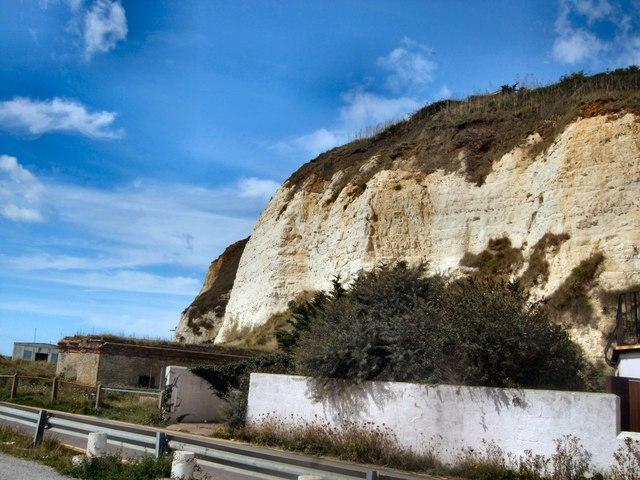 Cliffs near Newhaven Fort