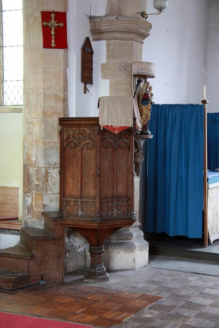St Mary, Sparham - Pulpit