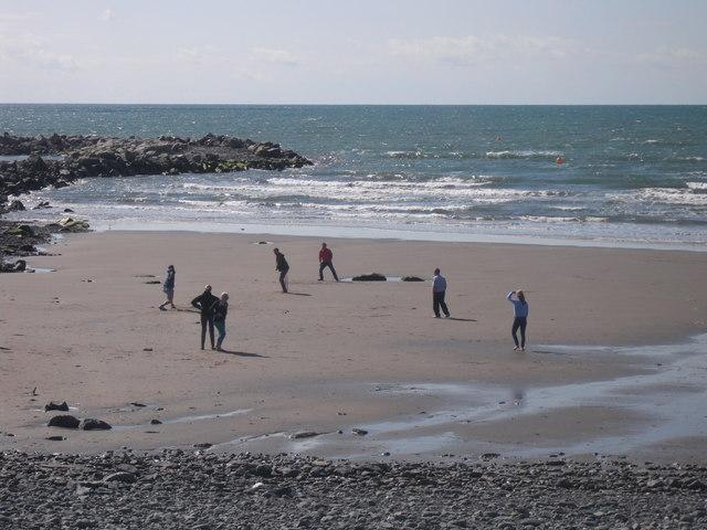 Beach cricket, Borth