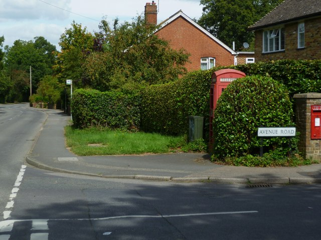 Junction of Avenue and Horsham Roads in Cranleigh