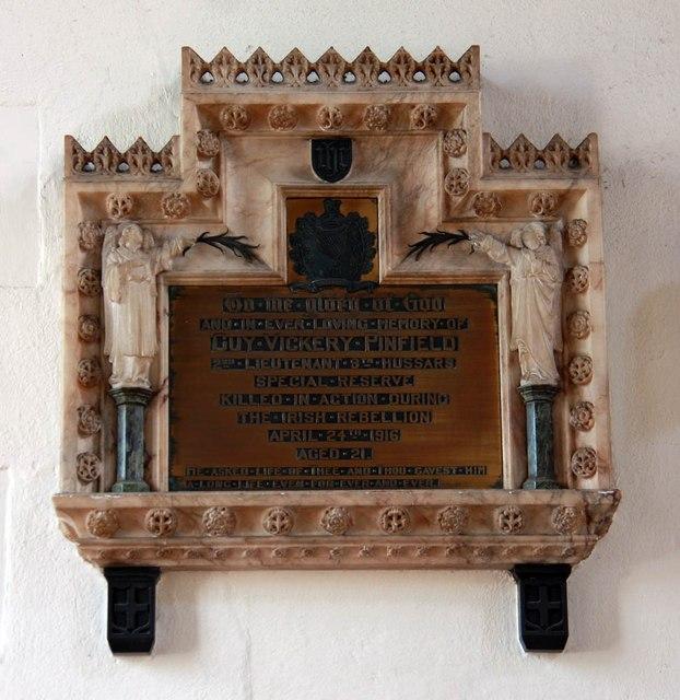 St Michael, Bishops Stortford - Wall monument