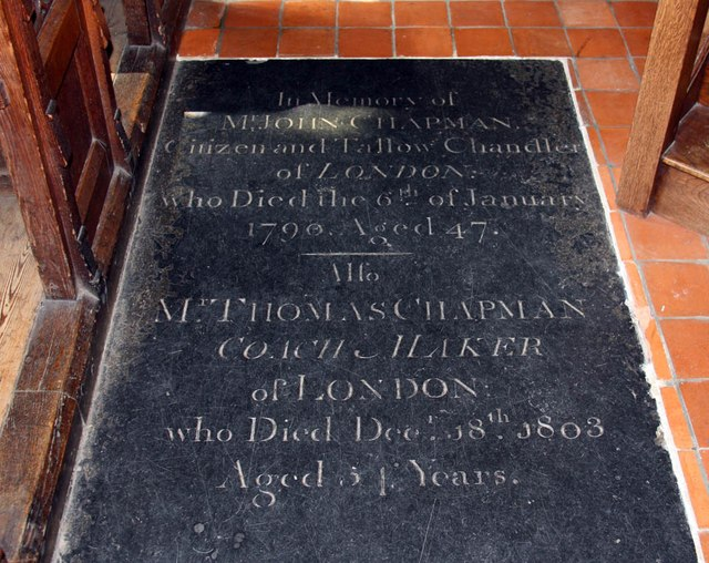 St Michael, Bishops Stortford - Ledger slab