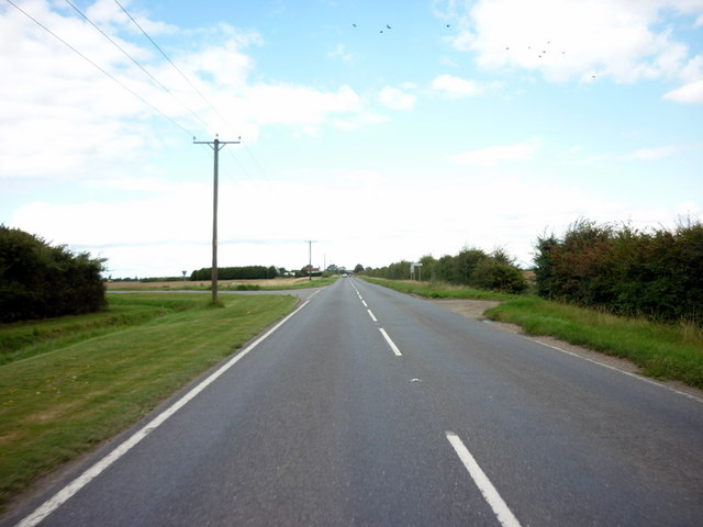 Langrick Road towards Brothertoft