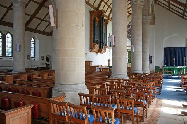 All Saints, Hockerill - Interior