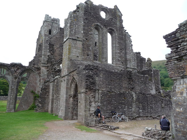 Part of the ruins of Llanthony Priory