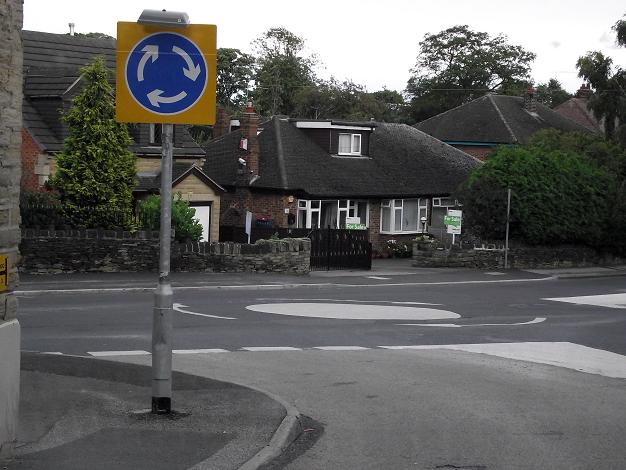Mini roundabout at the bottom of Lee Green